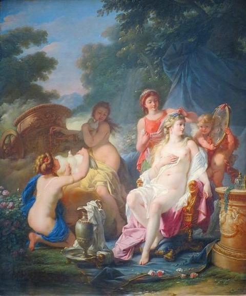 The Toilet of Venus' by Jean-Baptiste Regnault 1754-1829