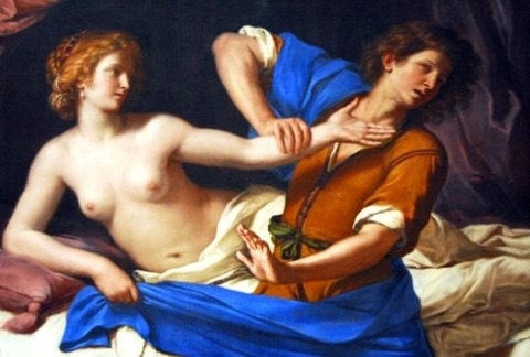 Joseph and Potiphar's Wife'Guercino 1649