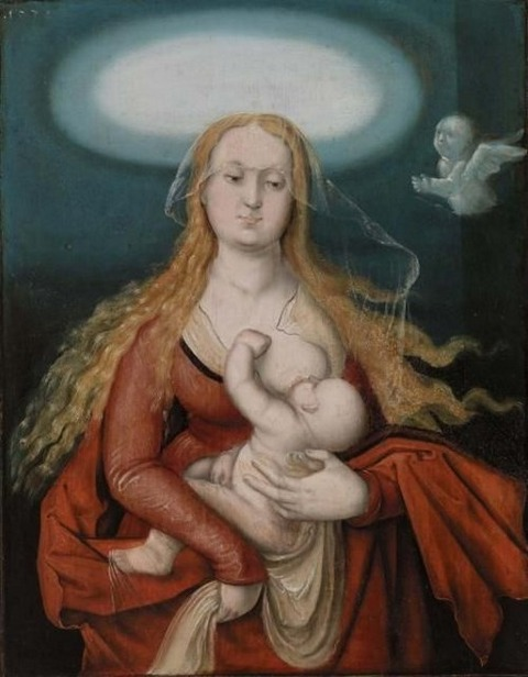 Hans Baldung Grien  Madonna and Child 1539