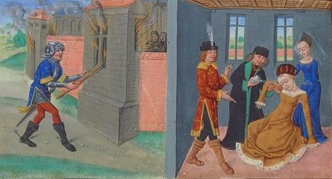 Geoffroy incendiant Maillezais Melusine insultee Raimondin 15th