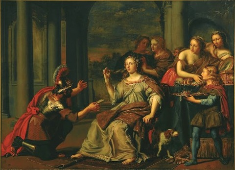 Adriaen Backer Semiramis Receives Uprising in Babylon (1669)