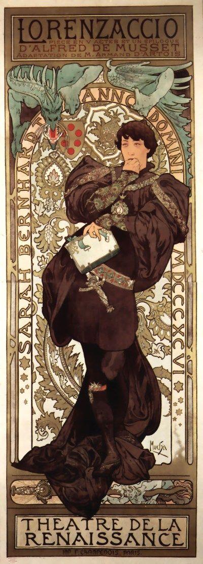 Alfons_Mucha 1896 Lorenzaccio