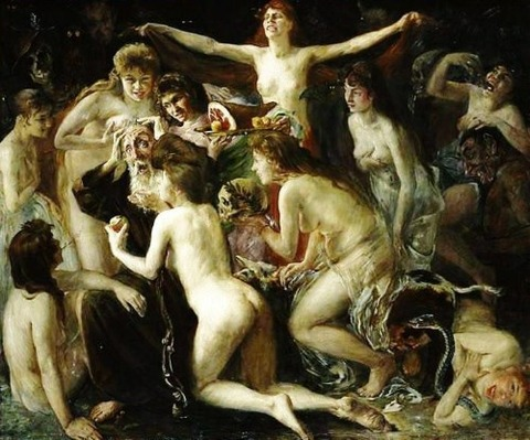 Lovis Corinth - The Temptation of Saint Anthony