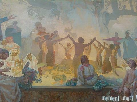 スラヴ菩提樹の下で行われるオムラジナ会の誓い