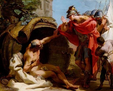 Alexander and Diogenes  Gaetano Gandolfi  1792