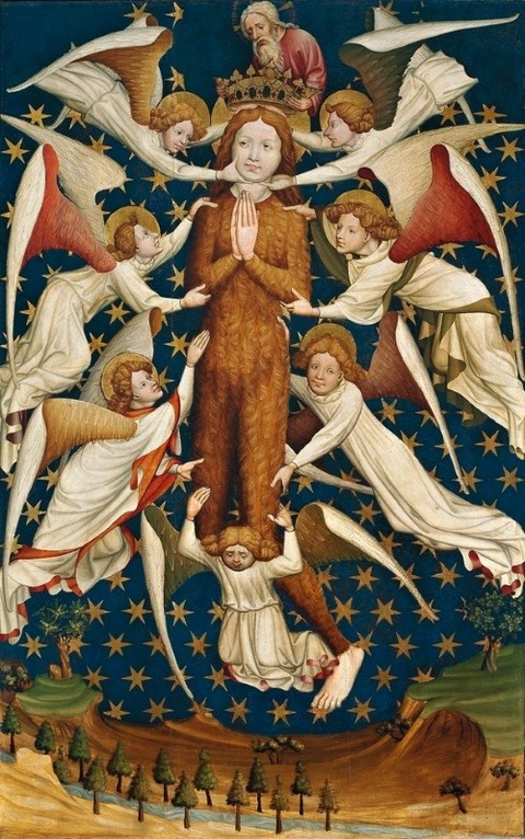 Magdalene in Glory with Angels - Master of Gdańsk - 1430