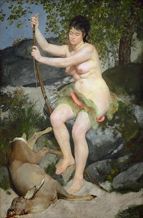 Pierre-Auguste_Renoir Diana als Jägerin 1867