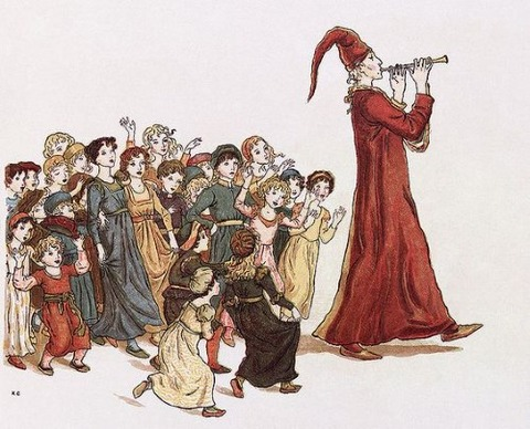Greenaway, Kate, (1846-1901), Pied Piper, 1888