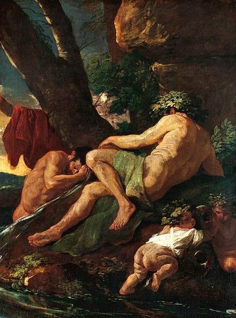 Midas se lavant à la source du Pactole, 1627 nicolas poussin