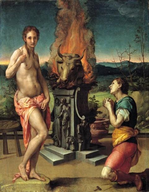 Bronzino Agnolo - Pigmalione e Galatea 1570