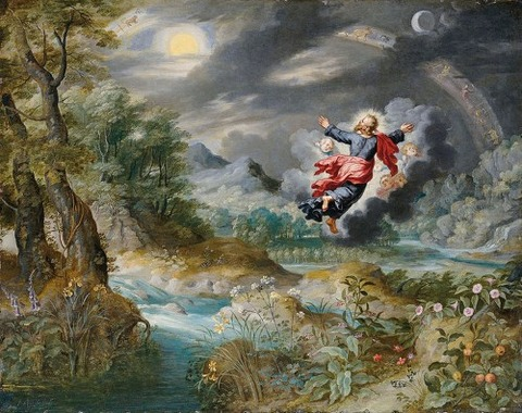 God creating Sun Moon and Stars Brueghel Jan II 17th