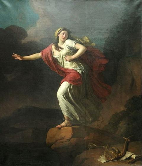 Sapho Jean-Joseph Taillasson 1745-1809