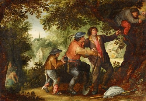 David Vinckboons, The Nest Robber 1576-1632