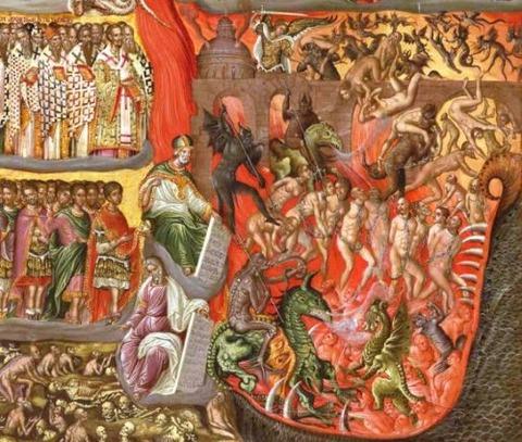 Georgios Klontzas depicting the Second Coming late 16th