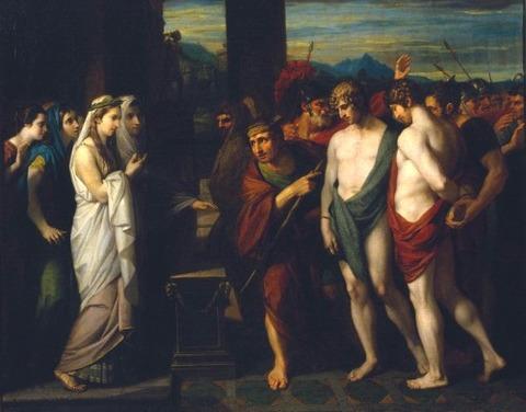 Benjamin West Pylades Orestes  Iphigenia 1766