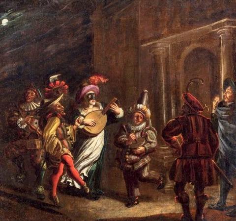 Matthijs NAIVEU 1647-1726 コンメディーア・デラルテ