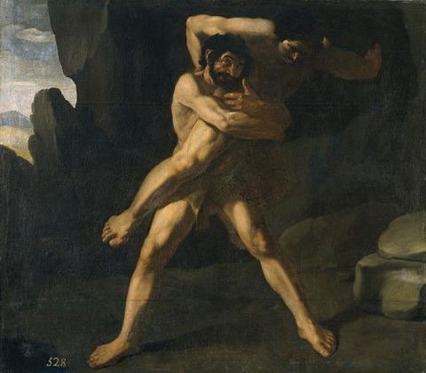 Hércules luchando con Anteo, por Zurbarán 1634