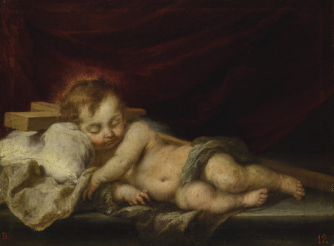 BARTOLOMÉ ESTEBAN MURILLO THE SLEEPING CHRIST CHILD