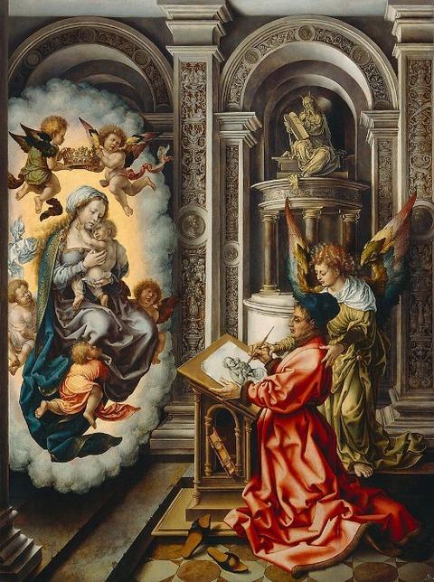 Jan Gossaert, St. Luke Painting the Madonna, c. 1520-25