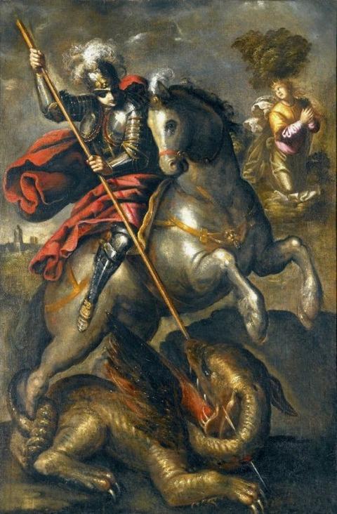 Follower of Jacopo Robusti Saint George  16th