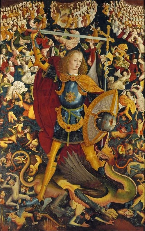Anonymous The Archangel Saint Michael 1495 Museo Del Prado