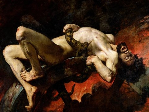 Ixion Thrown Into Hades by Jules Elie Delaunay
