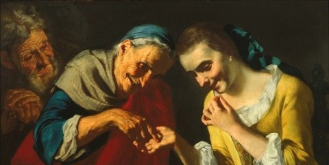A fortune teller by Gaspare Traversi 1722–70 -