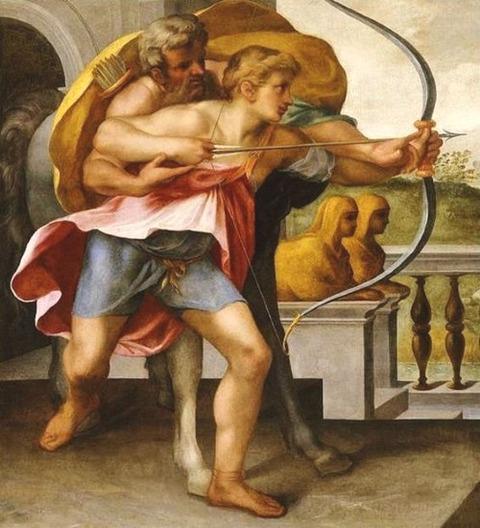 Achilles and the centaur Chiron Toussaint Dubreuil 1561-1602