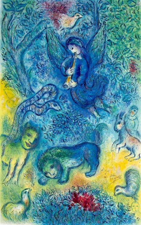 Marc Chagall, La flûte enchantée (Magic Flute), 1967