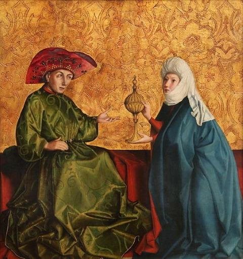 Queen of Sheba  front of King Solomon Konrad Witz 1435-37