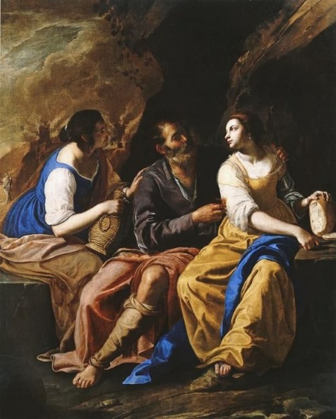 Lot and his Daughters - Artemisia Gentileschi, 1640