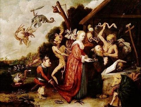 David Ryckaert - The Temptation of Saint Anthony