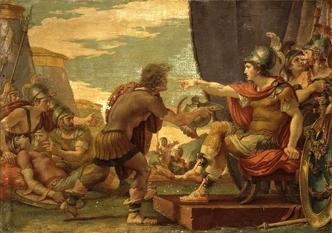 Alexander The Great Refuses To Take Water by Giuseppe Cades
