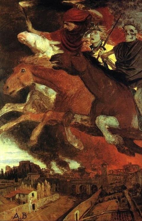War (four horsemen)  Arnold Böcklin