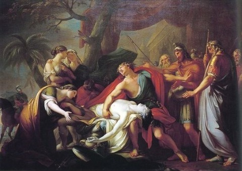 Achilles Mourning Patroclus by Gavin Hamilton