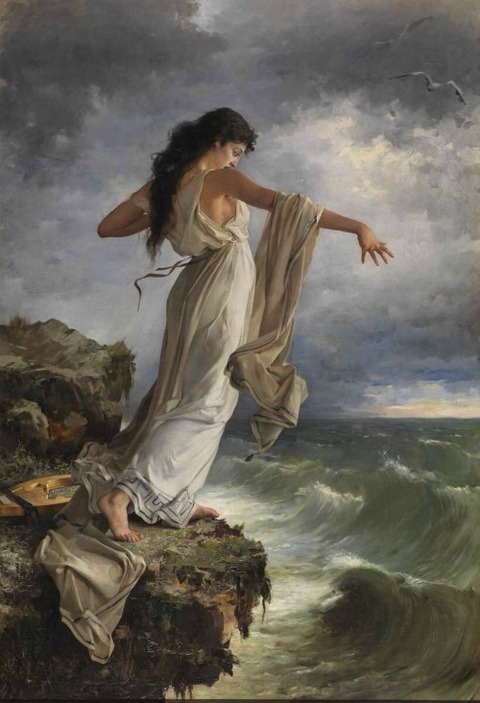 Miguel Carbonell i Selva - Safo lanzándose al mar, 1881