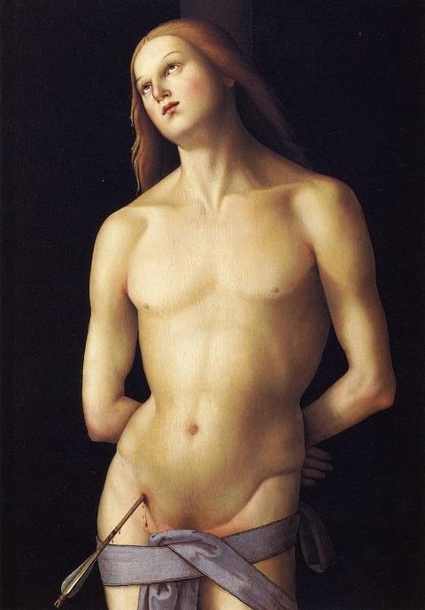 Heiliger Sebastian eines Nacheiferers von Perugino, 1500