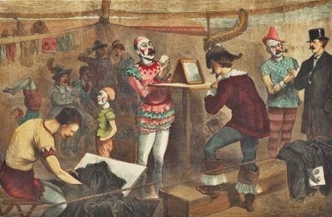 Joseph Becker 1841-1910 A Night in a Circus