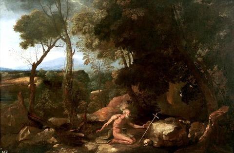 landscape-with-saint-paul-the-hermit-nicolas-poussin 1637-38
