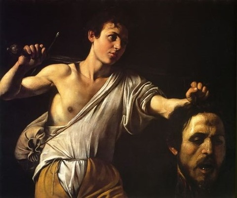 David Showing Goliath's Head Caravaggio, 1605