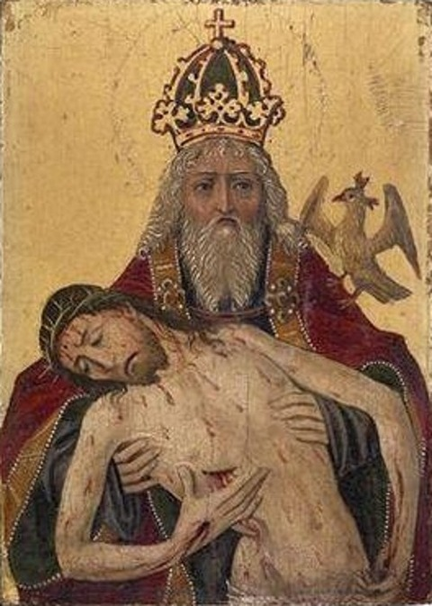 God the Father holding the dead Christ, early 16th