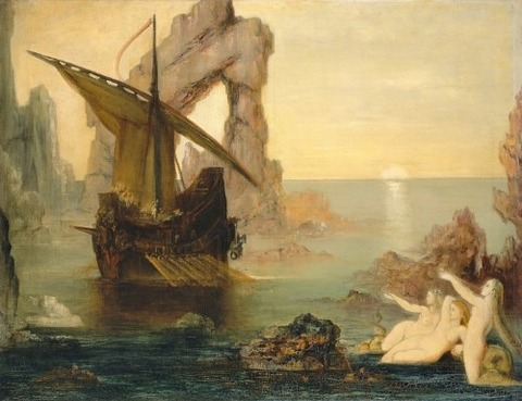 Gustave Moreau - Ulysses and the Sirens, 1875-80