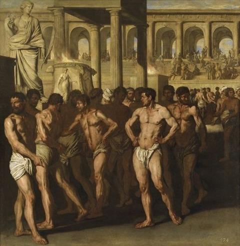 Aniello Falcone, The Gladiators, 17th