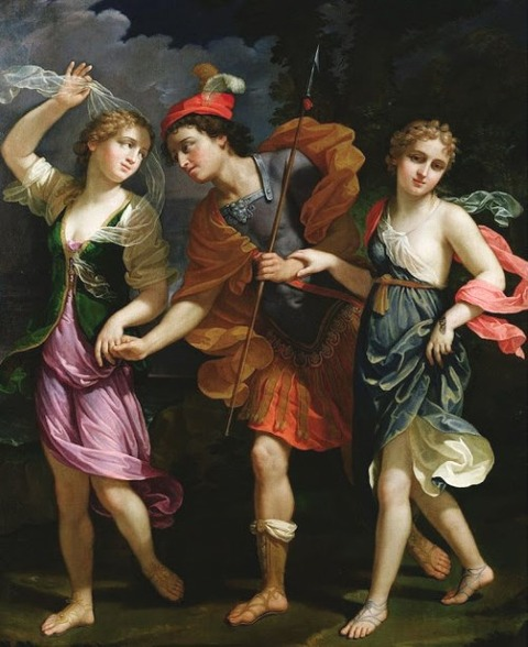Benedetto Gennari II Theseus with Ariadne and Phaedra 1702