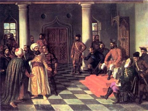 Vlad the Impaler and the Turkish envoys  Theodor Aman