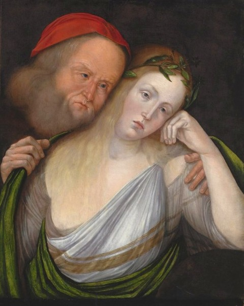 Old Man Young Woman(Nymph Agapes Old Husband) Jacopo de' Barbari