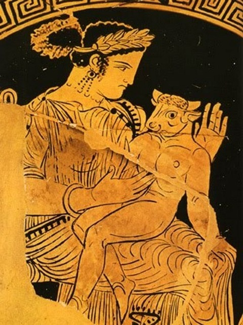 Pasiphae wife of the King of Crete Minos  340BCE