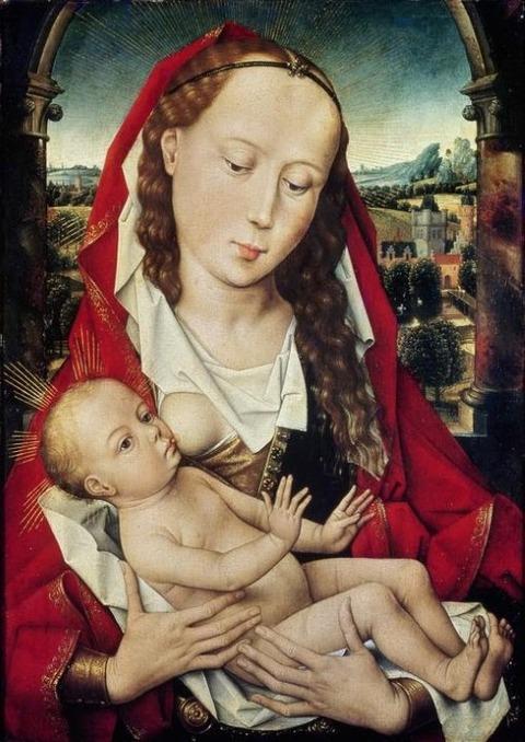 Hans Memling 1435-1494 Virgin and Child