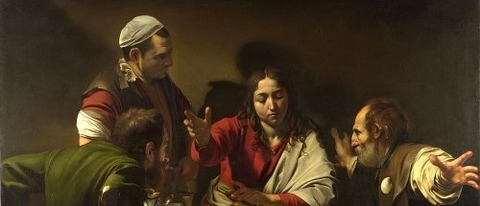Supper at Emmaus by Caravaggio, 1601 -