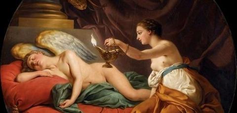 Psyche with Sleeping Cupid  Louis Jean Francois Lagrenee -